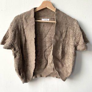 Dress barn cropped knit cardigan sweater shawl